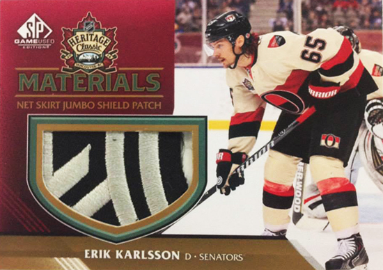Live-2014-15-NHL-SP-Game-Used-Heritage-Classic-Net-Skirt-Patch-Erik-Karlsson