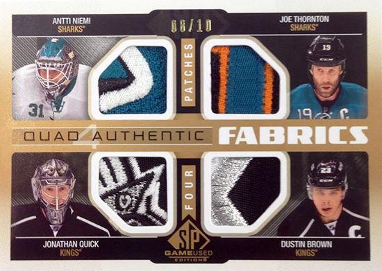 Live-2014-15-NHL-SP-Game-Used-Quad-Authentics-Kings-Sharks