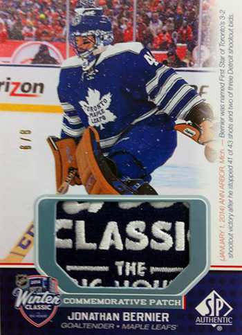 Live-2014-15-NHL-SP-Game-Used-Winter-Classic-Commemorative-Patch-Jonathan-Bernier
