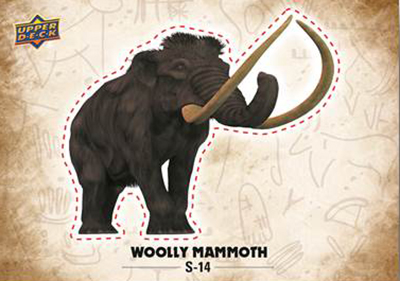 2015-Upper-Deck-Dinosaurs-Stickers-Wooly-Mammoth