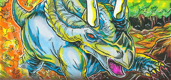 2015-Upper-Deck-Dinosaurs-Sketch-Cards-Elvin-Hernandez-Inside