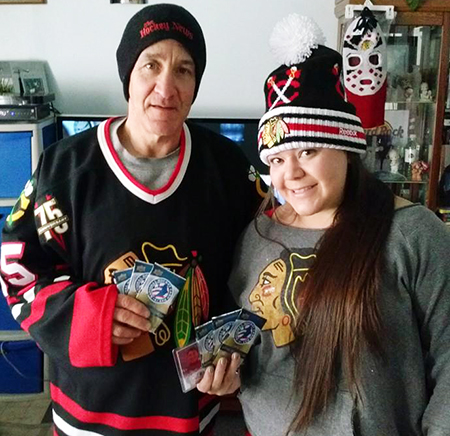 National-Hockey-Card-Day-Happy-Girl-NHCD-Canada-Lots-of-Cards-with Dad