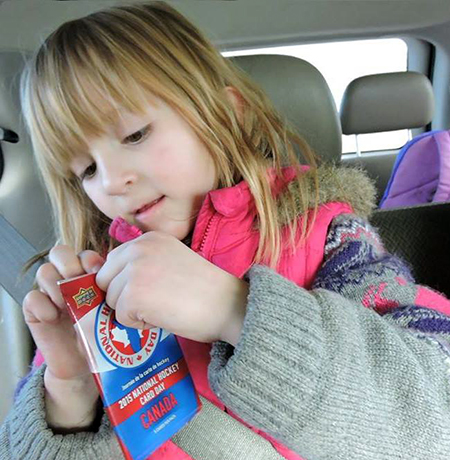 National-Hockey-Card-Day-Happy-Girl-NHCD-Canada-Pack-Car