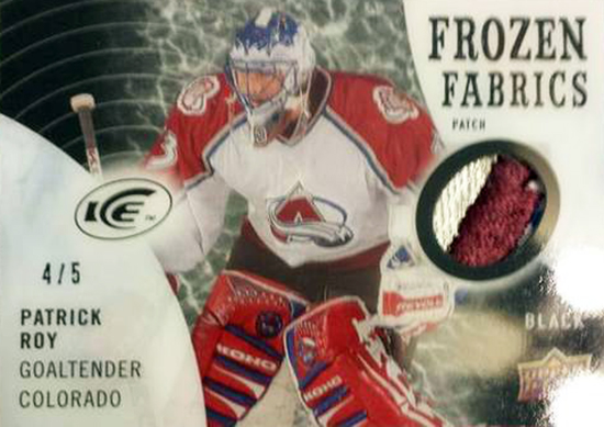 2014-15-NHL-Upper-Deck-Ice-Preview-Frozen-Fabrics-Patrick-Roy