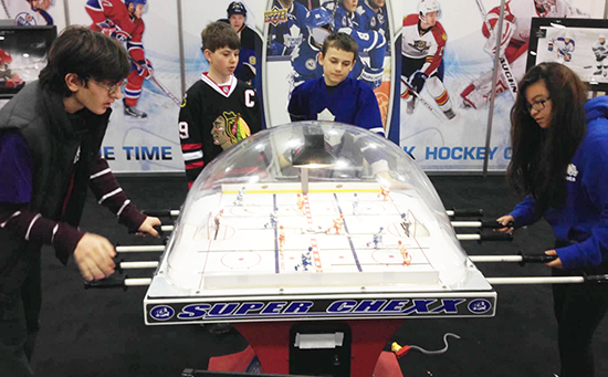 2014-Spring-Expo-Upper-Deck-Booth-Kids-Promotion-Bubble-Hockey