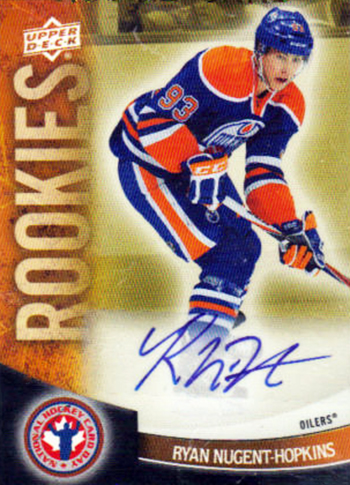 Connor-McDavid-2011-12-Upper-Deck-National-Hockey-Card-Day-Autograph-Ryan-Nugent-Hopkins