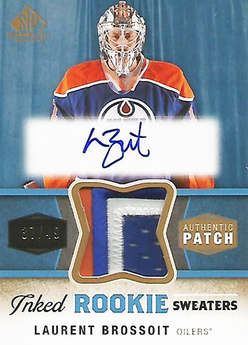 Connor-McDavid-2014-15-Upper-Deck-SP-Game-Used-Laurent-Brossoit-Edmonton-Oilers-Goalie