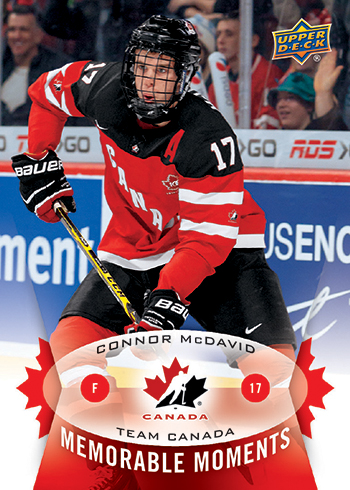 Connor-McDavid-2014-15-Upper-Deck-Team-Canada-Memorable-Moments