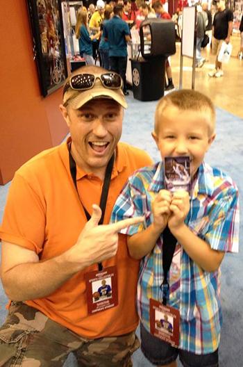 2014-National-Sports-Collectors-Convention-Upper-Deck-Autographs-Michael-Jordan-Cards-Father-Son-Kids-Memories