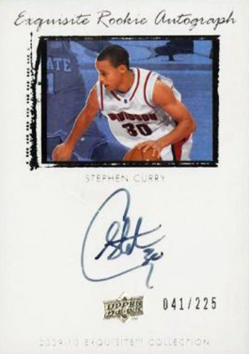 Stephen Curry Exquisite Collection Basketball Autograph Rookie Card