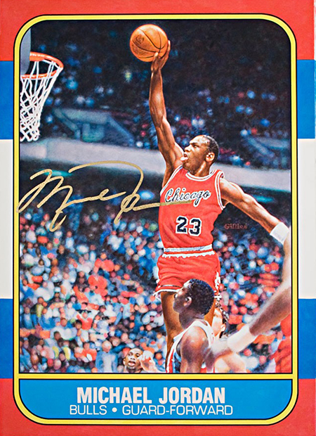 michael-jordan-rookie-card-fleer-autographed-signed-gilles-original-art-fathers-day-painted-artist