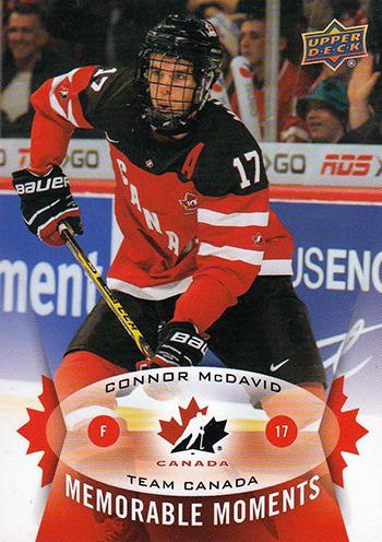 2015-Upper-Deck-Spring-Expo-Memorable-Moments-Card-Connor-McDavid-Team-Canada-1