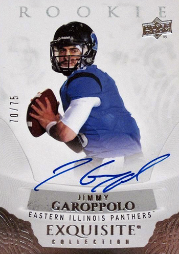 Best-Rookie-Cards-Collect-Valueable-Rare-Jimmy-Garoppolo-Upper-Deck-Exquisite-Collection-Autograph