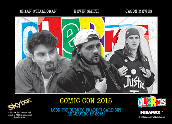 Comic Con autograph signing session clerks trading cards kevin smith jason mews brian o'halloran