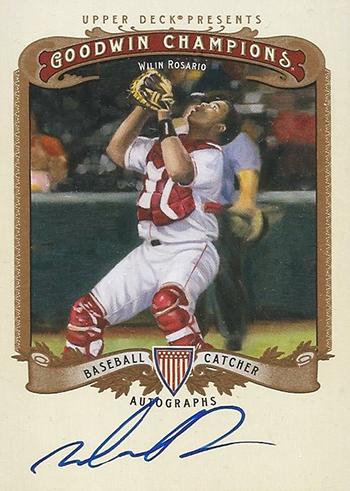 Goodwin-Champions-2012-Wilin-Rosario-Autograph-Card-Baseball