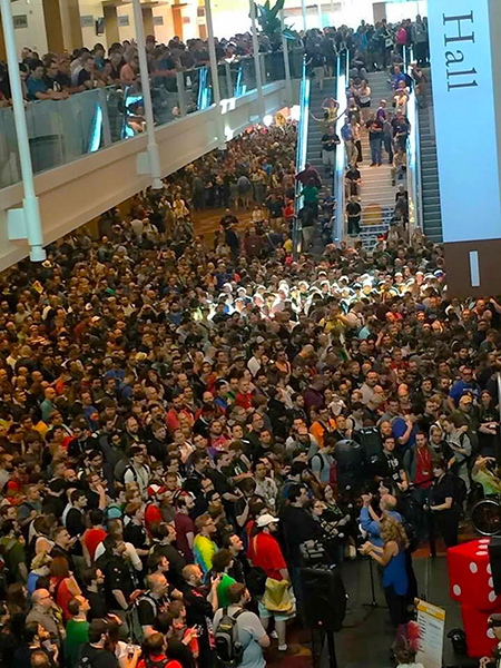 fans flock to gen con indy to see upper deck and get our new games