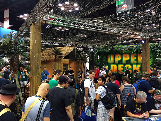 Gen-Con-Indy-2015-Upper-Deck-Entertainment-Predator-Booth-Crowded-Busy