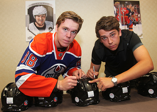 Connor-McDavid-Ryan-Strome-Sign-Promotional-Helmet-Dual-Autograph