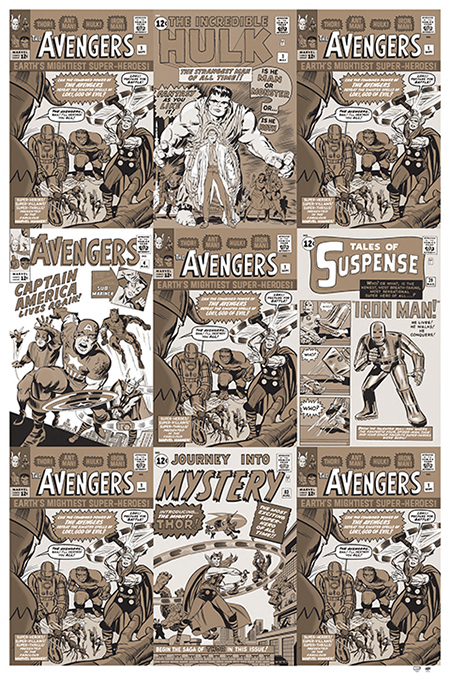 marvel avengers origins gallery collect upper deck poster