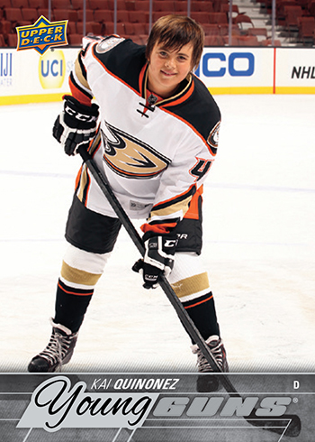 2015-16-NHL-Upper-Deck-Make-A-Wish-Kai-Quinonez-Rookie-Card-Front