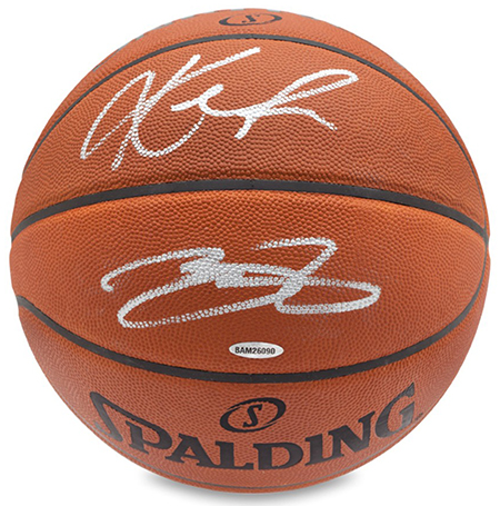 Kevin Love and LeBron James Signed Basketball