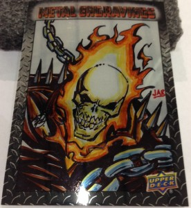 Vibranium Ghost Rider Sketch Card