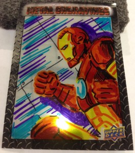 Vibranium Iron Man Sketch Card