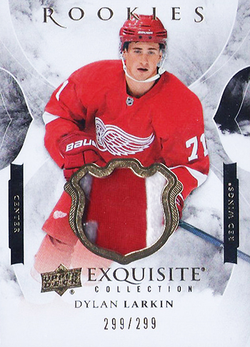 2015-16-NHL-Exquisite-Patch-Rookie-Card-Dylan-Larkin