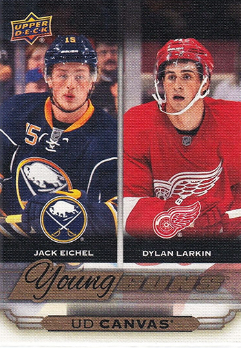 2015-16-NHL-Upper-Deck-Young-Guns-Canvas-Jack-Eichel-Rookie-Card-Dylan-Larkin