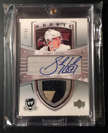 Pulling The Ultimate Sidney Crosbys Upper Deck Autograph Patch