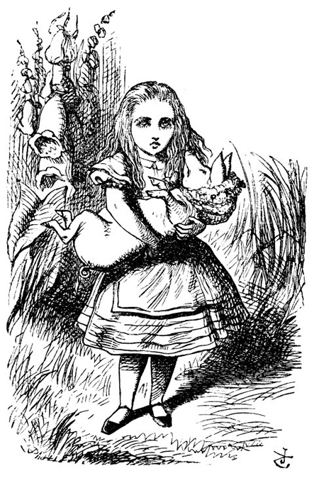 2016-Goodwin-Champions-Artist-Painted-Sketch-Alice-in-Wonderland-Looking-Glass-Upper-Deck-John-Tenniel