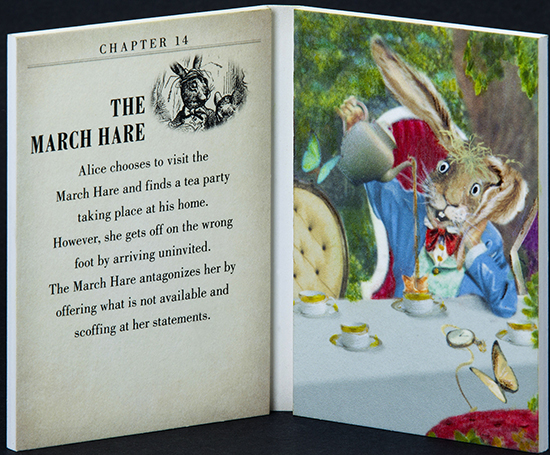 2016-Upper-Deck-Goodwin-Champions-Alice-in-Wonderland-Artist-Sketch-Booklet-Card-LIVE-The-March-Hare