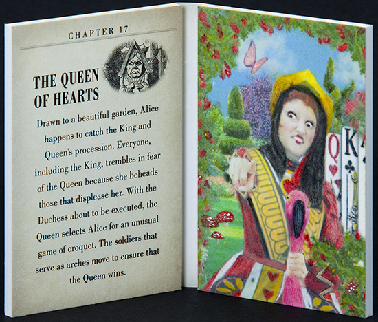 2016-Upper-Deck-Goodwin-Champions-Alice-in-Wonderland-Artist-Sketch-Booklet-Card-LIVE-The-Queen-of-Hearts