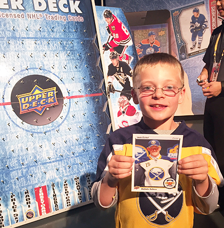 2016-NHL-Draft-Upper-Deck-First-Niagra-Buffalo-Sabres-Puck-O-Happy-Kid-Eichel