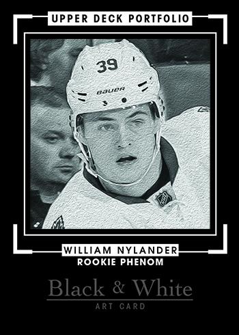 2016-17-Upper-Deck-NHL-Portfolio-Rookie-Redemption-William-Nylander-Black-White-Art-Card