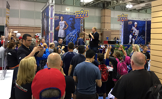Upper-Deck-National-Sports-Collectors-Convention-Giveaway-Raffle-Corporate-Booth-fans-excited-collect
