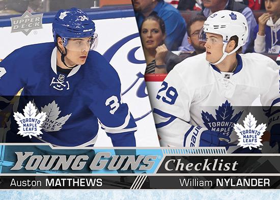 2016-17-nhl-upper-deck-series-one-young-guns-rookie-card-auston-matthews-william-nylander-checklist