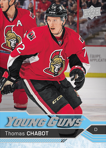 2016-17-NHL-Upper-Deck-Hockey-Young-Guns-Rookie-Card-Thomas-Chabot