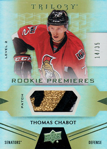 2016-17-NHL-Upper-Deck-Rookie-Radar-Ottawa-Senators-Thomas-Chabot-Trilogy-patch