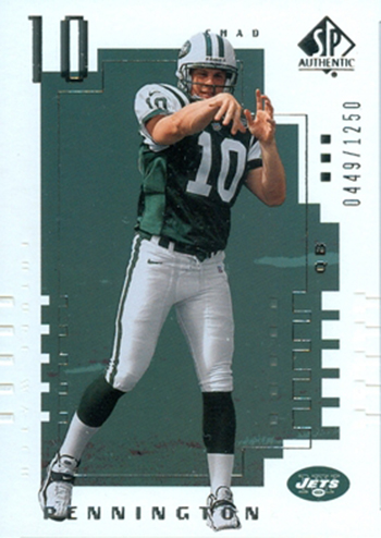2000-Upper-Deck-SP-Authentic-Football-NFL-Best-Rookie-Cards-Chad-Pennington