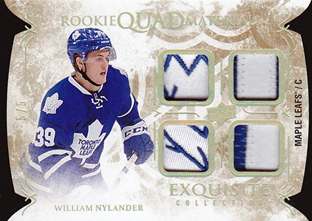 2016-17-NHL-Upper-Deck-Rookie-William-Nylander-Toronto-Black-Diamond-Exquisite-quad-patch