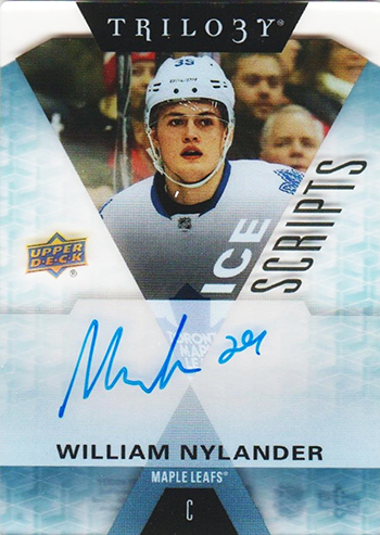 2016-17-NHL-Upper-Deck-Rookie-William-Nylander-Toronto-Trilogy-Autograph-Maple-Leaf-Ice-Scripts