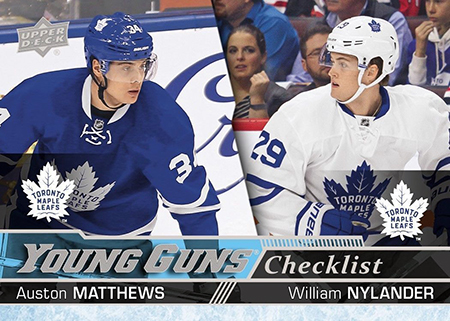 2016-17-NHL-Upper-Deck-Rookie-William-Nylander-Toronto-Young-Guns-Checklist-Matthews