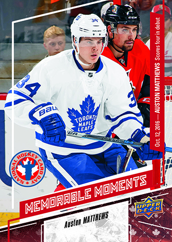 2017-Upper-Deck-National-Hockey-Card-Day-Canada-Rookie-Auston-Matthews-Memorable-Moments