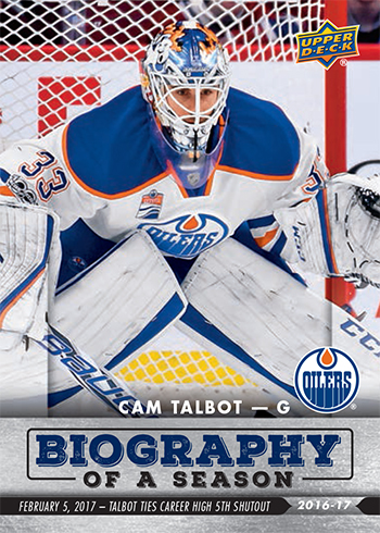 2016-17-Upper-Deck-NHL-Biography-of-a-Season-Edmonton-Oilers-Card10-Cam-Talbot