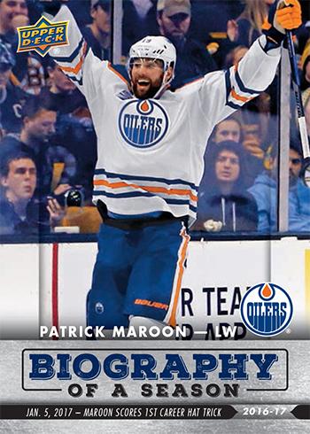 2016-17-Upper-Deck-NHL-Biography-of-a-Season-Edmonton-Oilers-Card7-Patrick-Maroon