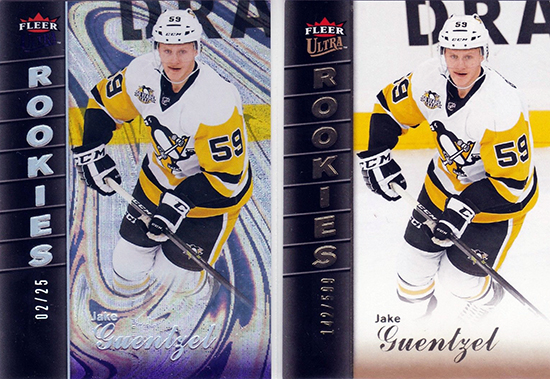 2016-17-Jake-Guentzel-Fleer-Showcase-Rookie-Card