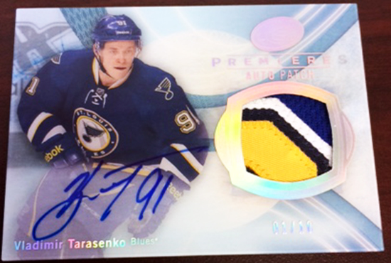 Upper-Deck-ICE-Patch-Rookies-Vladimir-Tarasenko
