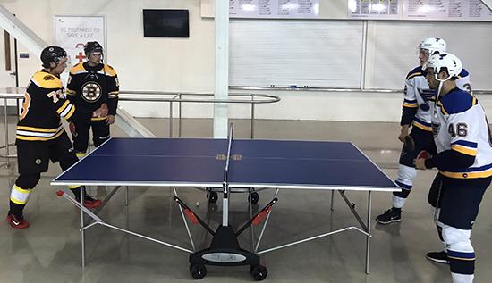 2017-nhlpa-rookie-showcase-upper-deck-bruins-vs-blues-ping-pong