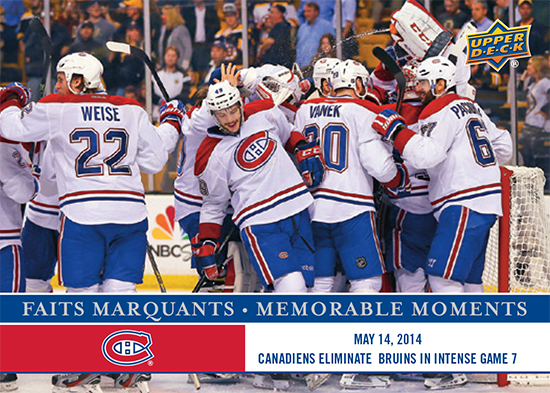 2017-LAnti-Expo-Montreal-Canadiens-Memorable-Moments-Set-5-Habs-Beat-Bruins